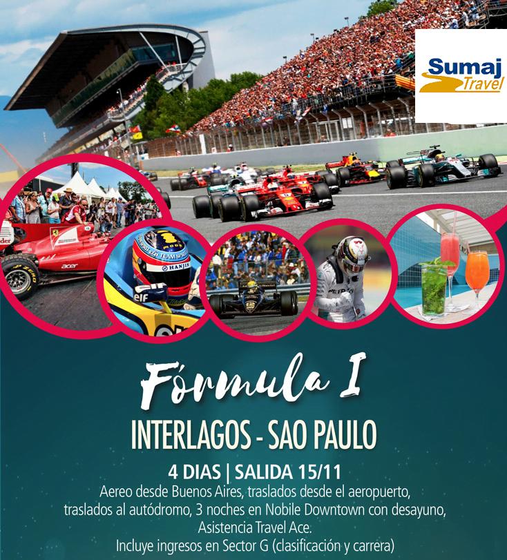 paquete formula 1 brasil 2019