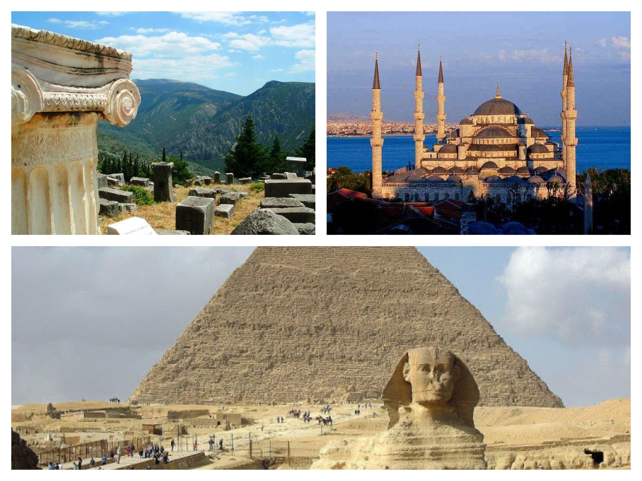 Ciucuito Estambul, Atenas y El Cairo