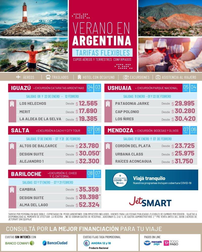 paquetes argentina con jetsmart verano 2021