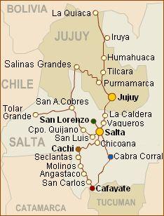 mapa norte argentino sumaj travel